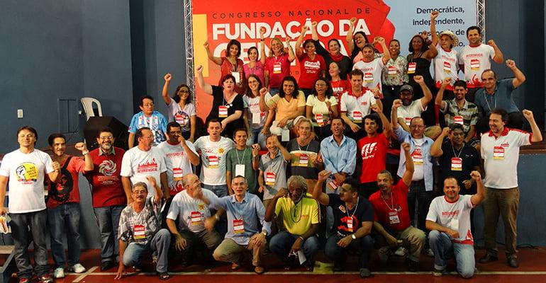 Direção Nacional Intersindical eleita 2014/16 (Congresso de Fundação)