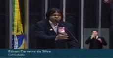 Edson Carneiro Índio, na Câmara, contra o PL 4330