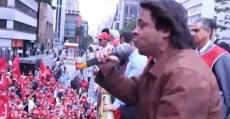 Fala de Edson Carneiro na manifestação contra a privatização do Banco Central