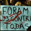 Manifestantes promovem ato contra o estupro coletivo no Rio
