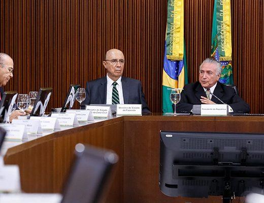 Brasília - DF, 24/05/2016. Presidente Interino Michel Temer durante apresentação das medidas econômicas. Foto: Marcos Corrêa/PR