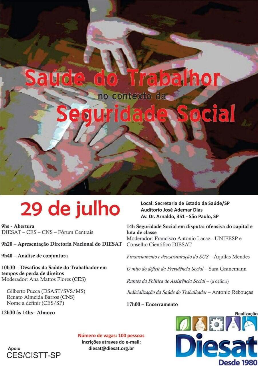 Diesat seminário Saude do trabalhador