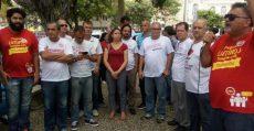 Sindibancários/ES ocupa praça em ato contra a retirada de direitos