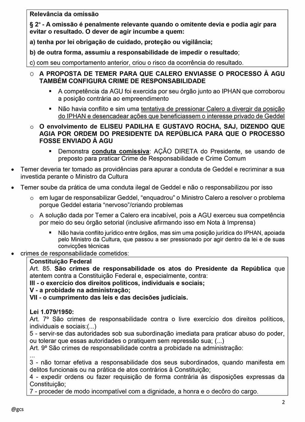 Impeachment Michel Temer 2