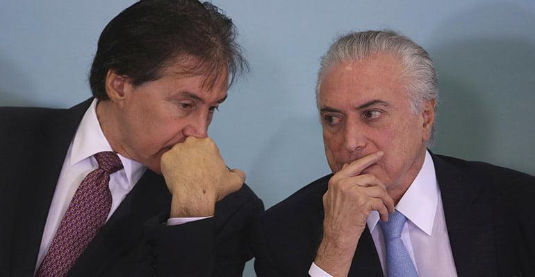 Eunicio Oliveira e Michel Temer