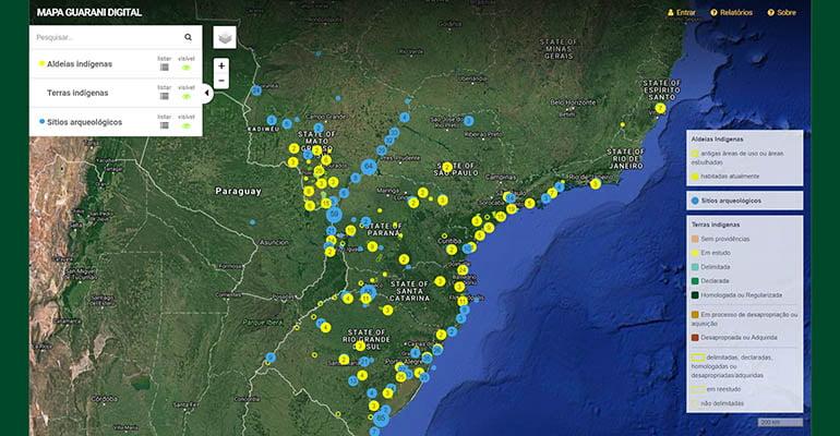 Mapa do território Guarani é lançado em São Paulo