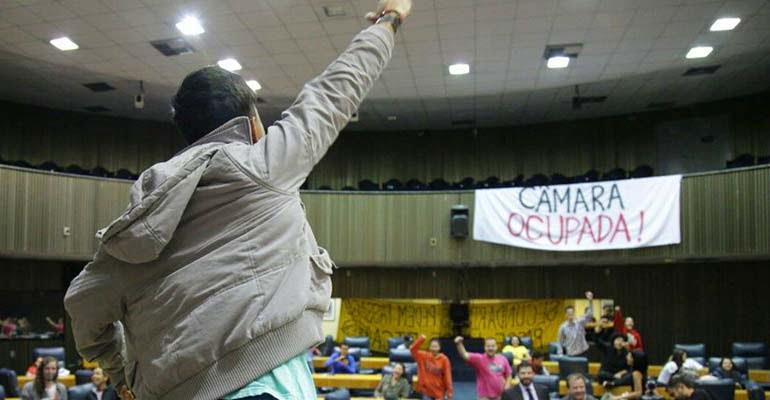 Povo Sem Medo apoia a Ocupação da Câmara de São Paulo