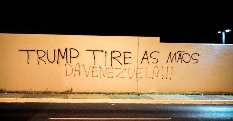 Trump, tire as mãos da Venezuela!   INTERSINDICAL