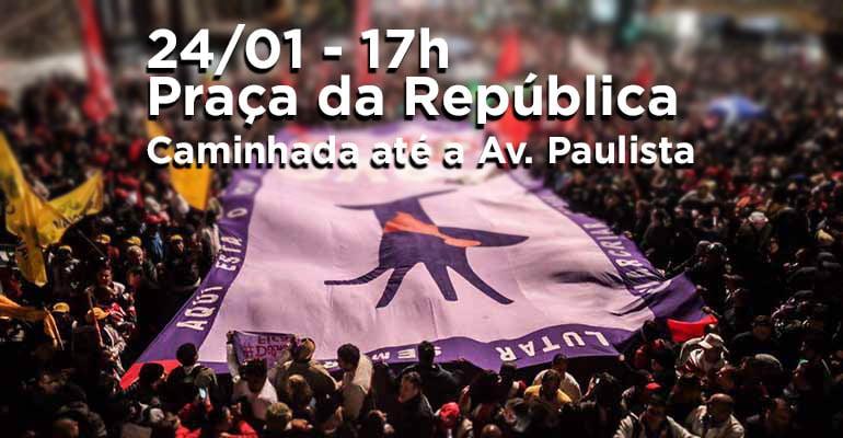 Ato em defesa da democracia e do direito de Lula ser candidato