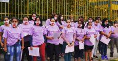 Unificados realiza ato na porta da fábrica Yamá no Dia das Mulheres
