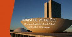 Mapa de Votações de Deputados e Senadores contra os trabalhadores