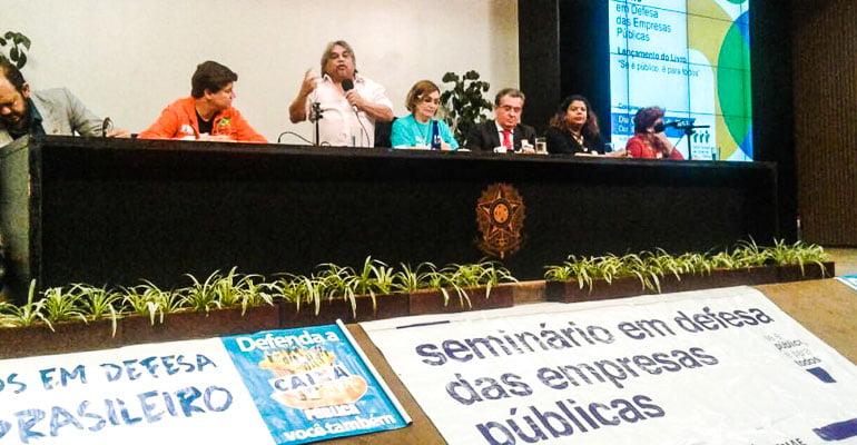 Intersindical no Seminário em Defesa das Empresas Públicas