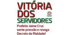 Vitória dos servidores públicos de Vinhedo É revogado o decreto da maldade!