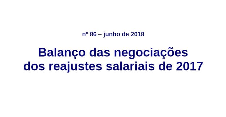 Balanço das negociações dos reajustes salariais de 2017