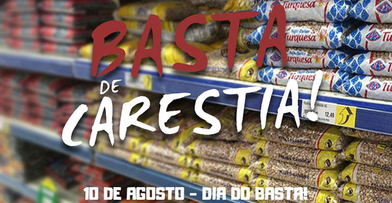 10 DE AGOSTO: Basta de carestia! | INTERSINDICAL