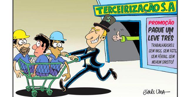 Terceirização só serve para reduzir salários e direitos dos trabalhadores. Entenda porquê.