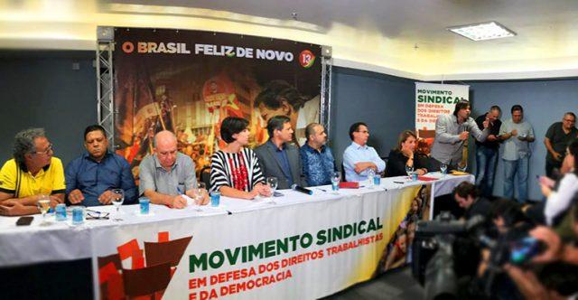 Intersindical e centrais com Haddad e Manuela para manifestar apoio