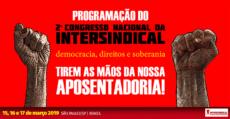 Programação do 2º Congresso Nacional da Intersindical | Intersindical
