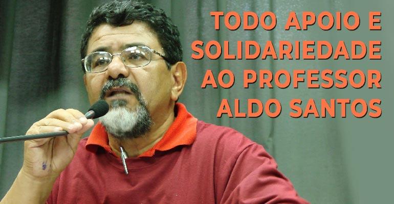 Moção de repudio à codenação do prof. Aldo Santos