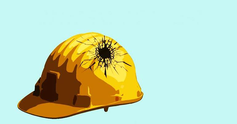 alterações na nr, segurança do trabalho, capacete quebrado