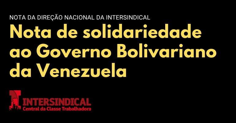 solidariedade à venezuela